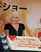 Singer and actress Christina Aguilera attends a red carpet event to promote her film Burlesque in Tokyo, Japan on Dec. 8 2010. The event also coincided with her birthday.