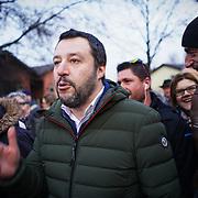 180201 Matteo Salvini in tour elettorale al campo Rom