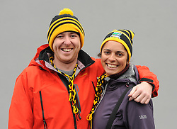 Rory O'Malley and Kat Sikand supporting Louisburgh in Ennis,<br />