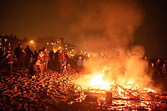 Christmas Tree Burning on Portobello Beach, Edinburgh, 6 January 2019