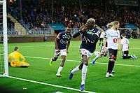 Fotball , Eliteserien<br /> 29.09.2019 , 20190929<br /> Strømsgodset - Odd <br /> Moses Dramwi Mawa jubler for målet til 3-3 som ble annulert av dommer <br /> Foto: Sjur Stølen / Digitalsport
