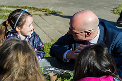 Pictured: John Swinney<br /> <br /> Education Secretary John Swinney MSP met staff and children at Davidson's Mains Primary School nursery today as he reaffirmed his commitment to the transformation of early learning and childcare. <br /> <br /> Ger Harley: 6 September 2018