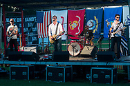 Hamptonburgh, New York - The Black Dirt Bandits perform at Orange County's 2017 Freedom Fest fireworks show at Thomas Bull Memorial Park on July 15, 2017.