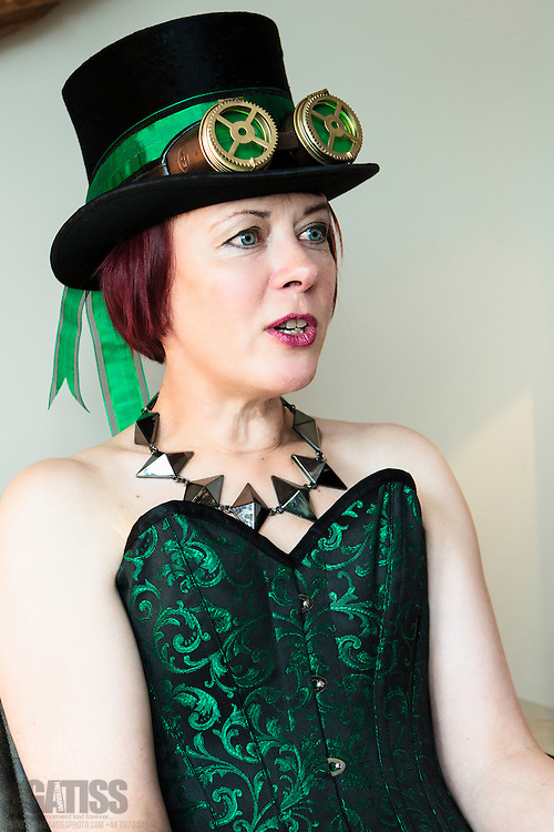Fun shoot with steampunk fan Sue Westmore