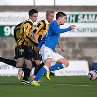 East Fife v St Johnstone...09.07.14  Pre-Season Friendly<br /> Michael O'Halloran runs in to open the scoring for saints<br /> Picture by Graeme Hart.<br /> Copyright Perthshire Picture Agency<br /> Tel: 01738 623350  Mobile: 07990 594431