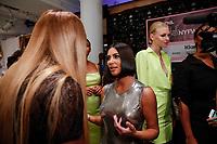 Serena Williams and Kim Kardashian  backstage during Klarna STYLE360 NYFW Hosts S by Serena Fashion Show