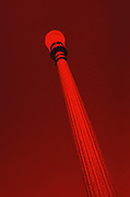 Lightpost, red, abstract. 2000