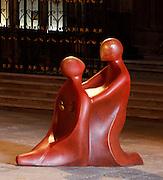 """Une journÈe avec Fleur Nabert, sculpteur, ? Metz le samedi 24 avril 2010, ? l'occasion du vernissage de l'exposition """"Les Cinq Sens"""" - Sculptures en vie rÈalisÈes par l'artiste ? la CathÈdrale de Metz. Vernissage de l'Exposition """"Les Cinq Sens"""" - Sculptures en vie : entrÈe du public A day with Fleur Nabert, sculptor, on April 24, 2010 in Metz, France for the opening of the sculptures exhibition """"Les cinq sens - sculptures en vie"""" in St Stephen Cathedral of Metz. Atmospheric view of the exhibition. Picture by Manuel Cohen - Further clearance required, please contact us"""