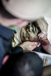 May 5, 2019 - Gaza City, The Gaza Strip, Palestine - Palestinians in Gaza city mourners the bodies of Palestinians killed by Israeli airstrike. (Credit Image: © Mohamed Zarandah/Quds Net News via ZUMA Wire)