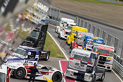 06.07.2013, Red Bull Ring, Spielberg, AUT, Truck Race Trophy, Renntag 1, im Bild feature Einfahrt Boxengasse // during the Truck Race Trophy 2013 at the Red Bull Ring in Spielberg, Austria, 2013/07/06, EXPA Pictures © 2013, PhotoCredit: EXPA/ M.Kuhnke
