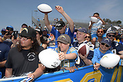Jul 29, 2018; Costa Mesa, CA, USA; Los Angeles Chargers fans attend training camp at Jack R. Hammett Sports Complex.