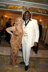 VANESSA FELTZ and BEN OFOEDU at the Chain of Hope Ball held at The Dorchester, Park Lane, London on 4th February 2008.<br />