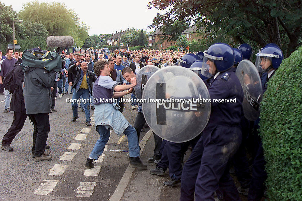 Re-enactment of the battle of Orgreave, staged by Artangel.