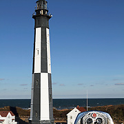 The Cape Henry lighthouse is one of the tallest cast-iron lighthouses in the United States and sits at the entrance to Chesapeake Bay on the Atlantic Ocean in Virginia Beach, Va, USA