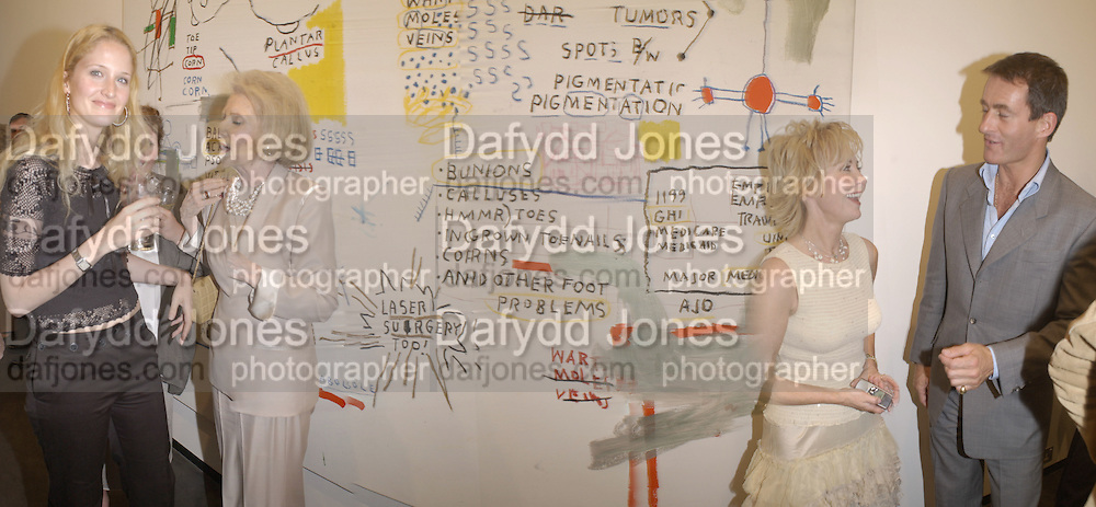Claire van Holthe, ?, Lulu and Tim Jeffries.   Basquiat private view. Hamiltons. London. 19 June 2002. © Copyright Photograph by Dafydd Jones 66 Stockwell Park Rd. London SW9 0DA Tel 020 7733 0108 www.dafjones.com