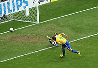 Photo: Chris Ratcliffe.<br /> <br /> Brazil v Ghana. Round 2, FIFA World Cup 2006. 27/06/2006.<br /> <br /> Ronaldo scores the opening goal.