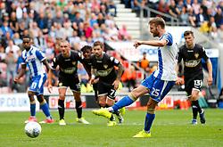 Wigan Athletic's Nick Powell scores his sides third goal - Mandatory by-line: Matt McNulty/JMP - 13/08/2017 - FOOTBALL - DW Stadium - Wigan, England - Wigan Athletic v Bury - Sky Bet League One