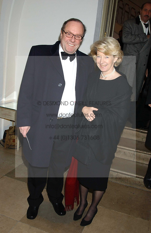MICHAEL ANCRAM MP and his wife LADY JANE ANCRAM at a dinner attended by the Conservative leader Michael Howard and David Davis and David Cameron held at the Banqueting Hall, Whitehall, London on 29th November 2005.<br />