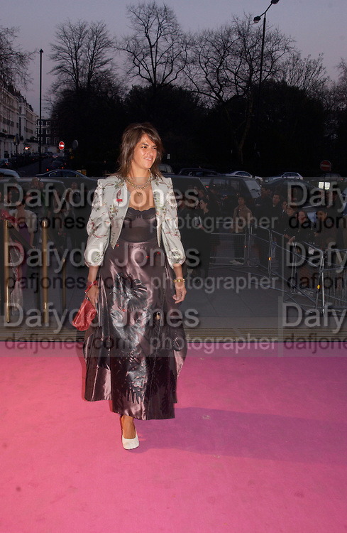 Tracey Emin, Opening of Vivienne Weatwood exhibition. V. & A. 30 March 2004. ONE TIME USE ONLY - DO NOT ARCHIVE  © Copyright Photograph by Dafydd Jones 66 Stockwell Park Rd. London SW9 0DA Tel 020 7733 0108 www.dafjones.com