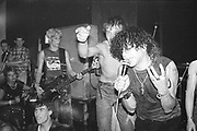 Charlie Harper from UK Subs playing in Brighton, UK, 1980s.