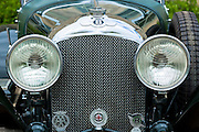 Vintage Bentley 4.5 litre 1929 with AA -Automobile Association  RAC Royal Automobile Club Bentley Drivers Club badge and lamps