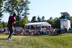 September 1, 2018 - Norton, Massachusetts, United States - Tiger Woods chips on to the 11th green during the second round of the Dell Technologies Championship. (Credit Image: © Debby Wong/ZUMA Wire)