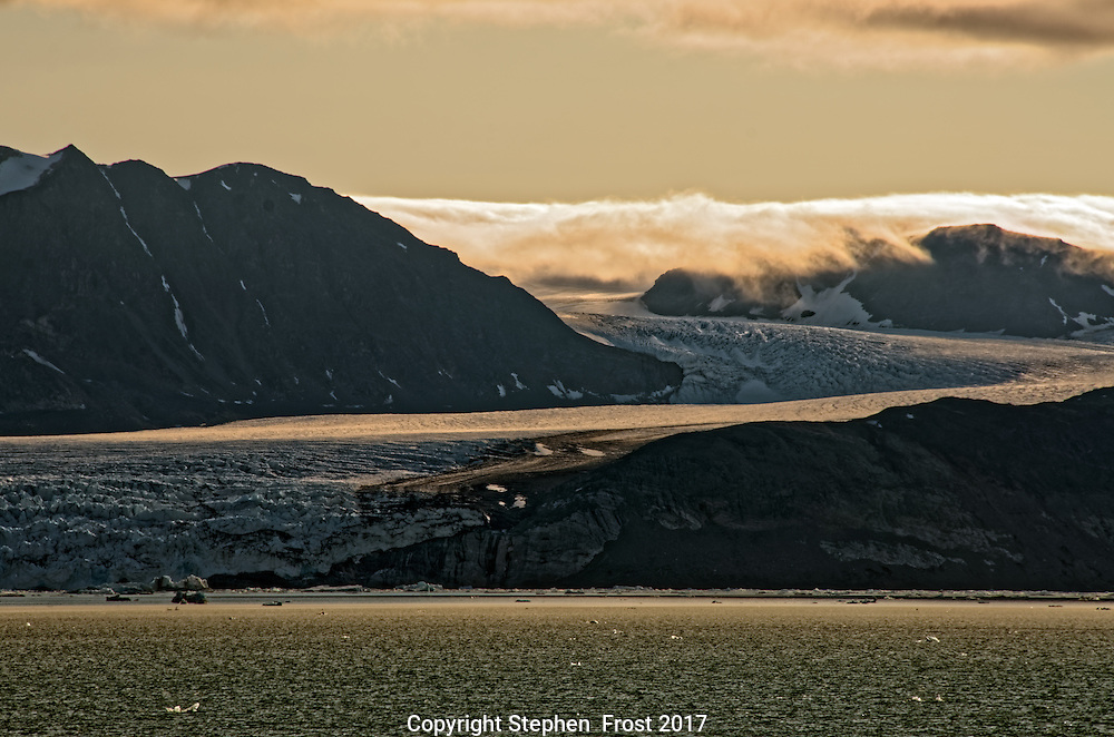 Glacial arctic scene photographed in Svalbard.<br />