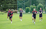 Dundee&rsquo;s Kane Hemmings, Greg Stewart, Nicky Low and Rory Loy -  Dundee FC pre-season training camp in Obertraun, Austria<br /> <br />  - &copy; David Young - www.davidyoungphoto.co.uk - email: davidyoungphoto@gmail.com