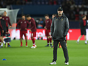 Liverpool's manager Jürgen Klopp prior the Champions League group stage match between Paris Saint-Germain and Liverpool at Parc des Princes, Paris, France on 28 November 2018.