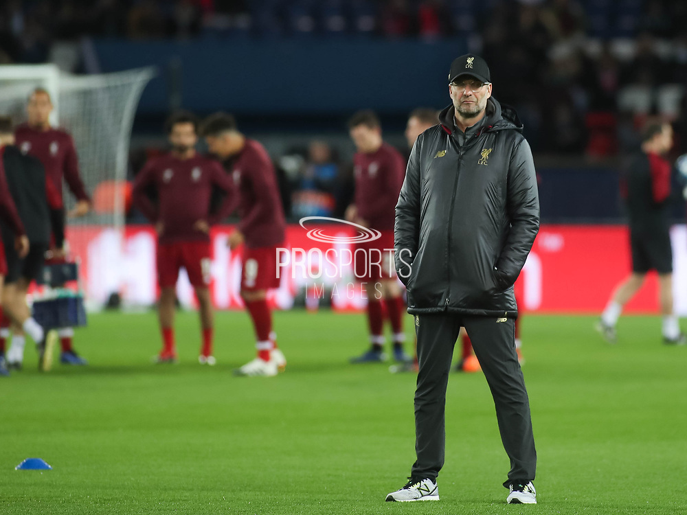 Liverpool's manager Jürgen Klopp prior the Champions League group stage match between Paris Saint-Germain and Liverpool at Parc des Princes, Paris, France on 28 November 2018.