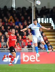Tom Lockyer of Bristol Rovers heads the high ball- Mandatory-by line: Nizaam Jones/JMP - 04/05/2019 - FOOTBALL - Memorial Stadium - Bristol, England - Bristol Rovers v Barnsley - Sky Bet League One