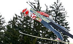 03.01.2015, Bergisel Schanze, Innsbruck, AUT, FIS Ski Sprung Weltcup, 63. Vierschanzentournee, Training, im Bild Markus Eisenbichler (GER) // Markus Eisenbichler of Germany in action during practice Jump of 63 rd Four Hills Tournament of FIS Ski Jumping World Cup at the Bergisel Schanze, Innsbruck, Austria on 2015/01/03. EXPA Pictures © 2015, PhotoCredit: EXPA/ Peter Rinderer