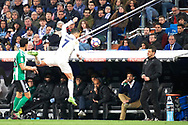 Cristiano Ronaldo (forward; Real Madrid) in action during La Liga match between Real Madrid and Real Betis Balompie at Santiago Bernabeu on March 12, 2017 in Madrid