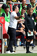 Fleetwood Town Manager Joey Barton during the EFL Sky Bet League 1 match between Fleetwood Town and AFC Wimbledon at the Highbury Stadium, Fleetwood, England on 4 August 2018. Picture by Craig Galloway.