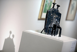 A sculpture by Kenneth Armitage, Model for Diarchy, 1957 is displayed during the David Bowie Collector Media Preview at Sotheby's on September 26, 2016 in New York City, NY, USA. Photo by Dennis Van Tine/ABACAPRESS.COM