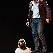 Edinburgh International Festival (EIF). Don Giovanni (Opera) by Wolfgang Amadeus Mozart. Conducted by Iv&agrave;n Fischer. Christopher Maltman as Don Giovanni and Sylvia Schwartz as Zerlina. Festival Theatre, Edinburgh.  08 Aug 2017. Edinburgh. Credit: Photo by Tina Norris. Copyright photograph by Tina Norris. Not to be archived and reproduced without prior permission and payment. Contact Tina on 07775 593 830 info@tinanorris.co.uk  <br /> www.tinanorris.co.uk