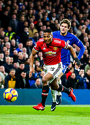 Luis Antonio Valencia of Manchester United and Marcos Alonso of Chelsea - Rogan/JMP - 05/11/2017 - FOOTBALL - Stamford Bridge - London, England - Chelsea v Manchester United - Premier League.