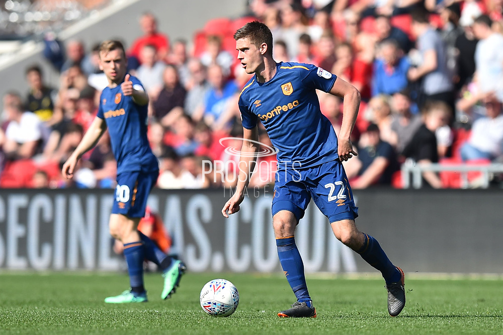 Markus Henriksen (22) of Hull City during the EFL Sky Bet Championship match between Bristol City and Hull City at Ashton Gate, Bristol, England on 21 April 2018. Picture by Graham Hunt.