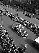 17/03/1955<br /> 03/17/1955<br /> 17 March 1955<br /> St. Patrick's Day Industrial parade in Dublin, run by the N.A.I.D.A.. Player's Navy Cut cigarette float in the parade on Westmoreland Street.