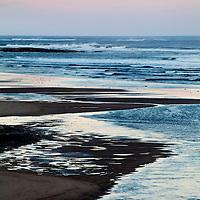 Alnmouth Beach at Dusk Northumberland England