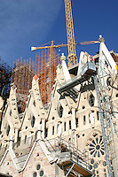 View of La Sagrada Familia Barcelona Spain<br />