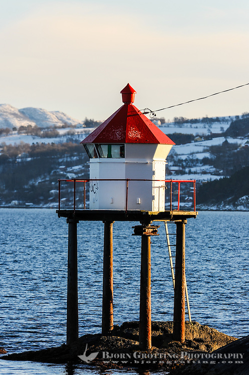 Norway, Stavanger. Small lighthouse on Storhaug.