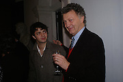Conrad Shawcross and William Shawcross. private view for Continuum by Conrad Shawcross. Queen's House. National Maritime Museum. Greenwich. 17 December 2004. ONE TIME USE ONLY - DO NOT ARCHIVE  © Copyright Photograph by Dafydd Jones 66 Stockwell Park Rd. London SW9 0DA Tel 020 7733 0108 www.dafjones.com