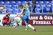 Jake Reeves midfielder for AFC Wimbledon (8) during the Sky Bet League 2 match between Hartlepool United and AFC Wimbledon at Victoria Park, Hartlepool, England on 25 March 2016. Photo by Stuart Butcher.