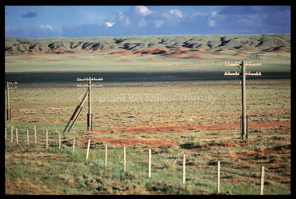 Mongolie, vue du Trans-Mongolie...Mongolie, vue du Trans-Mongolie.