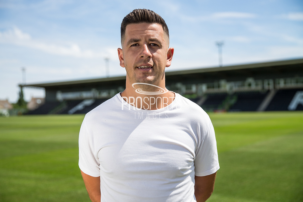 Lloyd James signing for Forest Green Rovers at the New Lawn, Forest Green, United Kingdom on 4 July 2018. Picture by Shane Healey