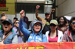 May 1, 2019 - Athens, Attiki, Greece - Feminists demonstrate in front of the Cyprus embassy in Athens, demanding justice for the victims of the serial killer nicknamed 'Orestis' and accusing the Cypriot police of inaction. (Credit Image: © George Panagakis/Pacific Press via ZUMA Wire)