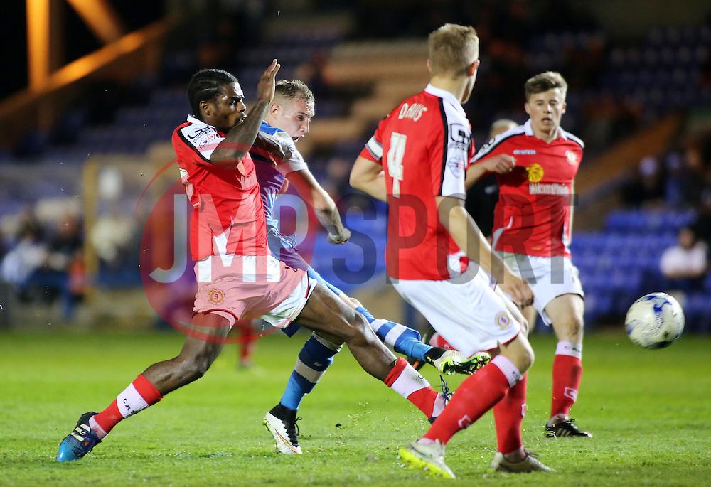 Peterborough United's Marcus Maddison shoots at goal - Photo mandatory by-line: Joe Dent/JMP - Mobile: 07966 386802 - 14/04/2015 - SPORT - Football - Peterborough - ABAX Stadium - Peterborough United v Crewe Alexandra - Sky Bet League One