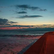 Today's Summer Sunrise  at Narragansett Town Beach, Narragansett, RI,  December  16, 2013.