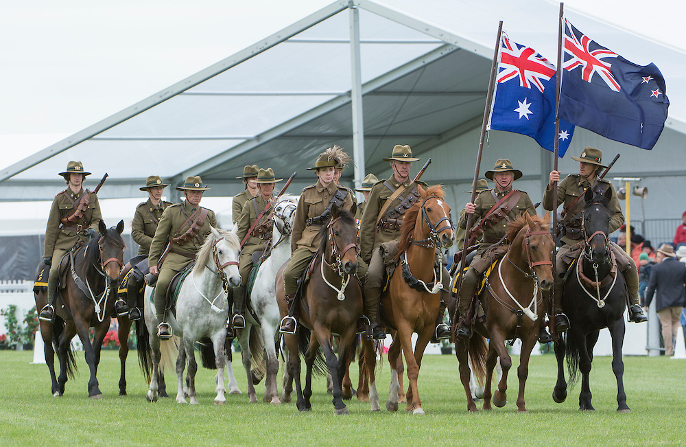The Canterbury Mounted Rifles put on a display at the Canterbury A&P Show, Christchurch, New Zealand, November 11, 2015. Credit: SNPA /  David Alexander.
